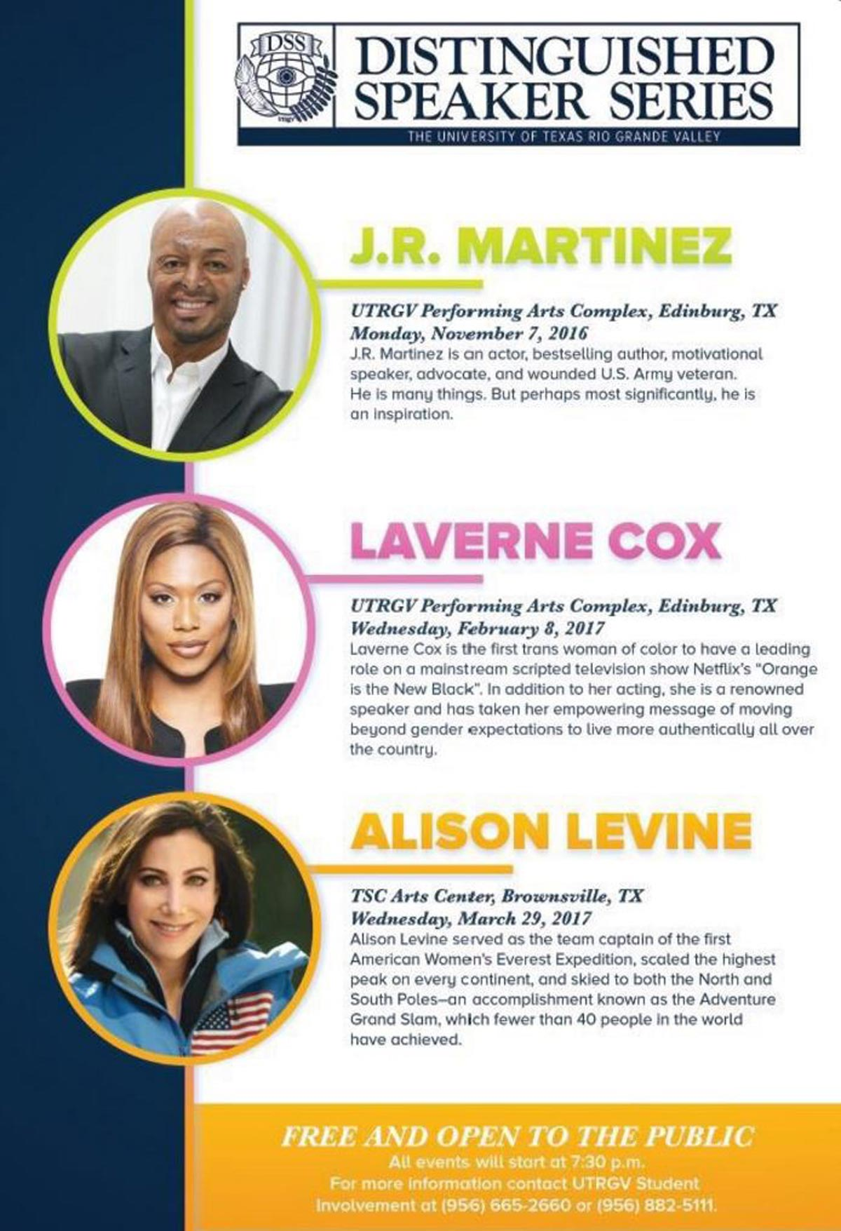 Be Sure to Participate with the UTRGV Distinguished Speaker Series   Explore McAllen