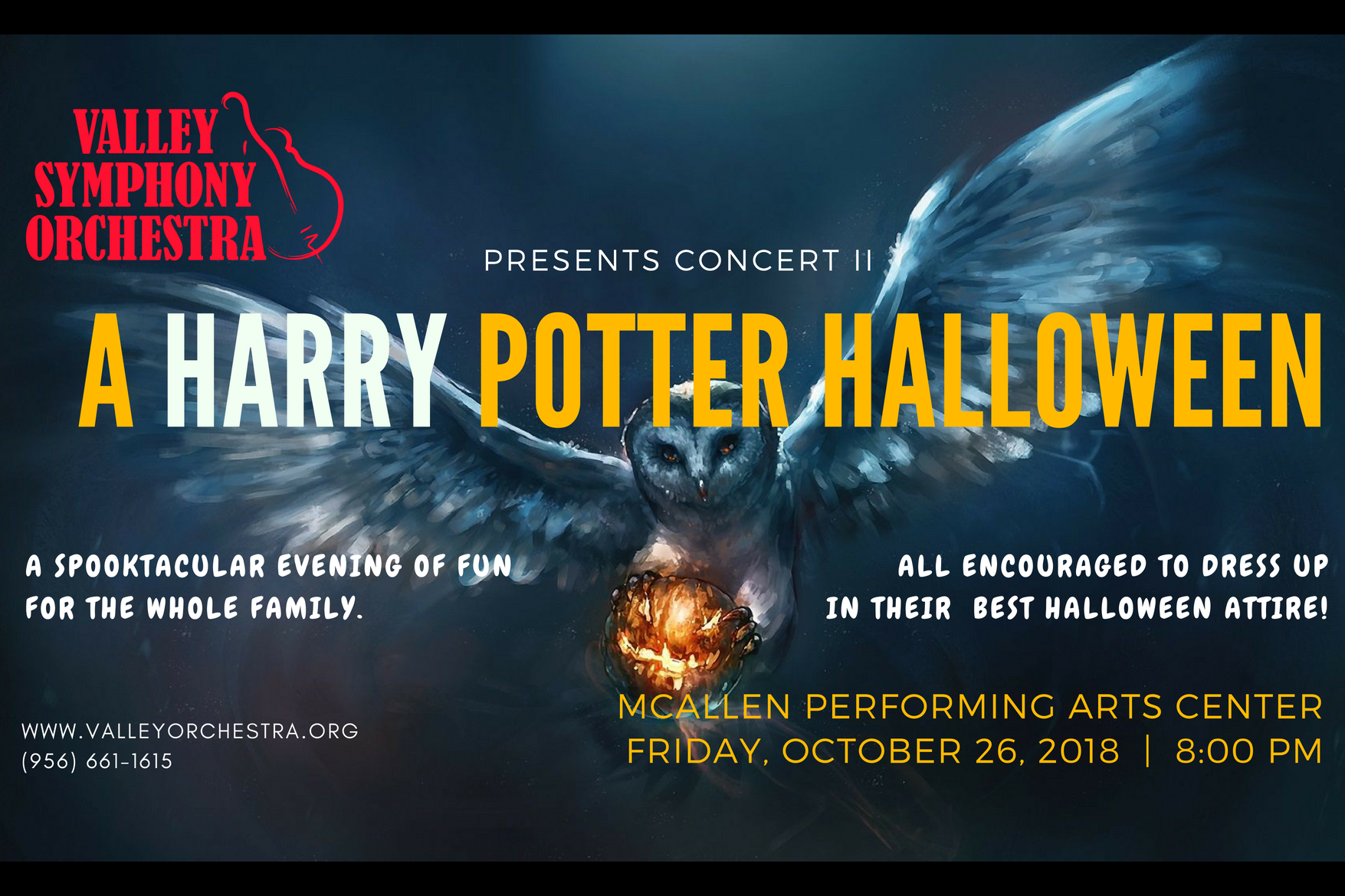 a harry potter halloween - vso concert ii | explore mcallen