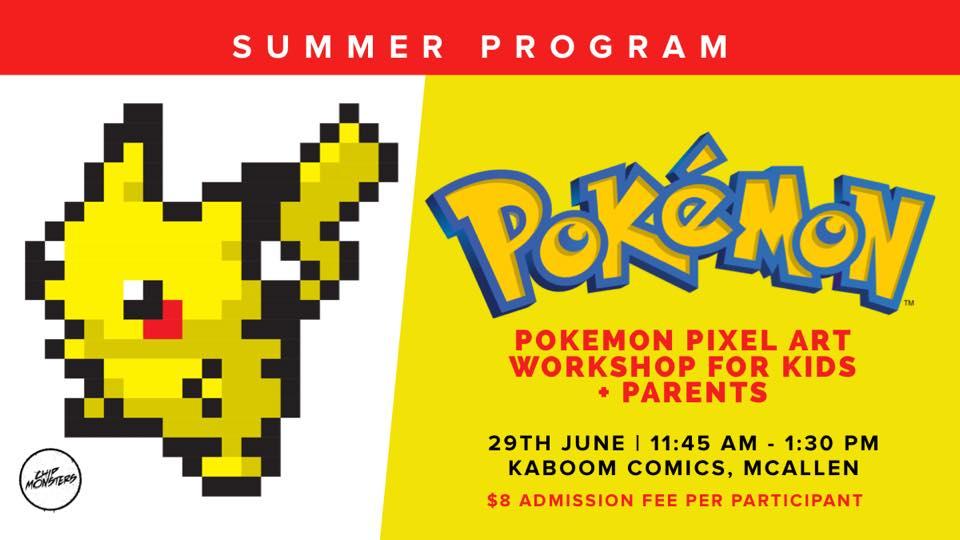 Pokemon Pixel Art Workshop For Kids + Parents | Explore McAllen